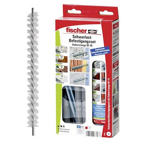 Fischer 97807 Schwerlast-Befestigungsset 300 T SBS Set M 10, Multifunktionsmörtel + Gewindestange + Siebhülse + Statikmischer + Bürste