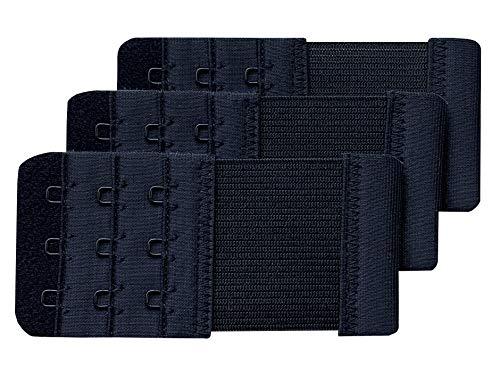 Chanie Dames Pack met 3 zachte comfortabele extensie 3 haken beha verlengstukken, 9,4 cm x 5,6 cm