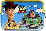 Pebble Gear Toy Story 4 Carry Sleeve - Bolsa Universal de Neopreno para niños en Pixar Toy Story 4-Design, para tabletas de 7 '(Fire 7 Kids Edition, Fire HD 8 Case), Cremallera Duradera, Woody y Buzz