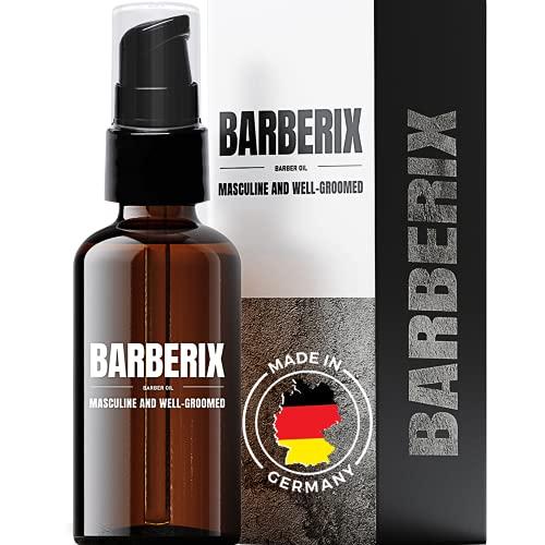 BARBERIX® Bartöl 50ml – lässt die Haut gesund und frisch und entspannt aussehen - schützt die Haut vor Schuppen - Bartöl Herren - in Deutschland hergestellt - Beard Oil - Tierversuchsfrei