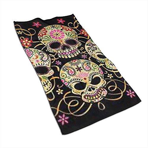 Día de los Muertos Sugar Skull Microfiber Toallas de Mano Toallas Toallas de Secado rápido Toallas Deportivas (40x70cm)