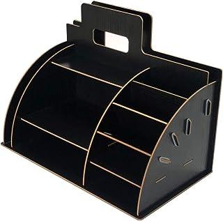 $24 » Homentum Wooden Office Desk File Organizer, Tool-Free DIY Document Storage Organizer for Desktop Stationary Accessories, H...