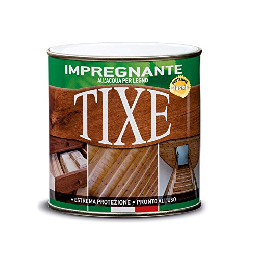TIXE 630305 Impregnante per Legno all'Acqua, Vernice, Noce Chiaro, 250 ml