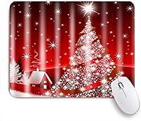 NIESIKKLAマウスパッド クリスマスツリーの赤いプリント ゲーミング オフィス最適 おしゃれ 防水 耐久性が良い 滑り止めゴム底 ゲーミングなど適用 用ノートブックコンピュータマウスマット