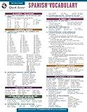 Spanish Vocabulary - REA's Quick Access Reference Chart (Quick Access Reference Charts) (English and Spanish Edition)