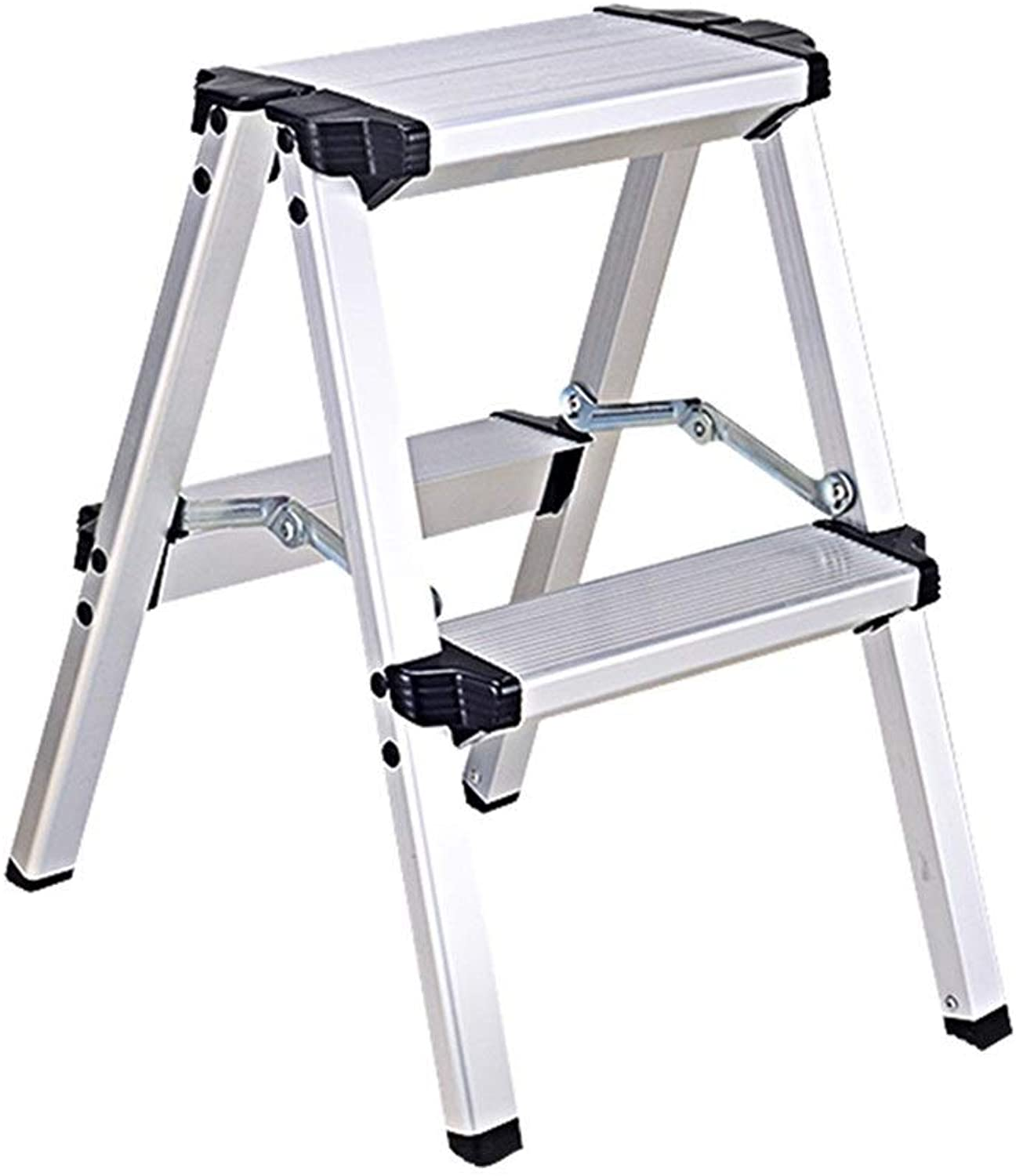 CIGONG Aluminum Step Stool Folding Step Stool Home Multi-Function Ladder Step Stool (Size   36.4  43  49.5CM)