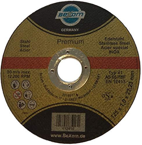 Trennscheibe 125x1 mm BeXom für Stahl und Edelstahl Winkelschleifer 25 Stück
