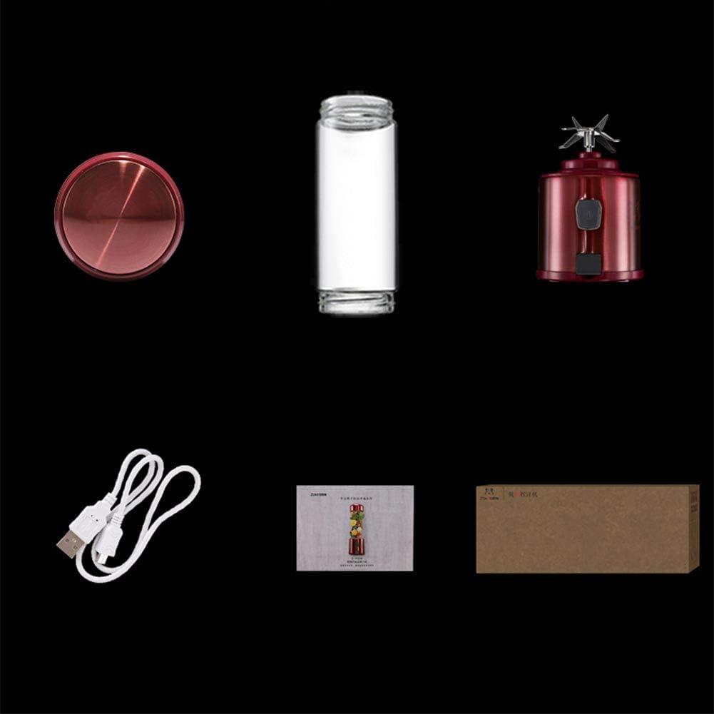 LYCIL Personnel Mélangeurs,Portable Coupe Juglacer Électrique Fruits Mélangeur USB Mélangeur De Glace pour Jus Écrasé-Glace Smoothie Secouer Extérieur Accueil Bureau B