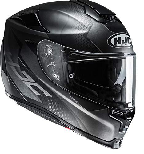 HJC Helmets Helm RPHA 70 GADIVO MC-5SF Integralhelm Motorradhelm mit Sonnenblende und Antifogscheibe (XXL (62/63)), 14357511, Schwarz Matt/Grau