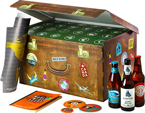 Adventskalender mit Bier | World Wide Beers | 24 Flaschen internationale Biere aus aller Welt als Geschenkbox (24x0,33l) | Geschenkidee für Männer | Probierpaket | Geburtstag | Weihnachten