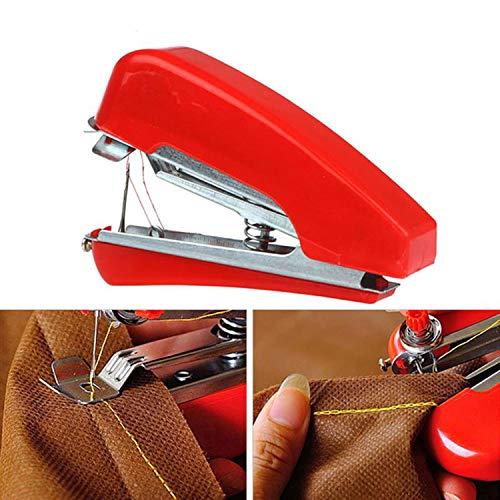 Creatividad * 1 unid Venta caliente Útil portátil DIY Costura Mini inalámbrico de mano Ropa de mano Telas Máquina de coser Mini máquina de coser de mano-