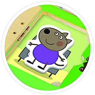 Peppa Pig Neighborhood Look & Find Wood Puzzle