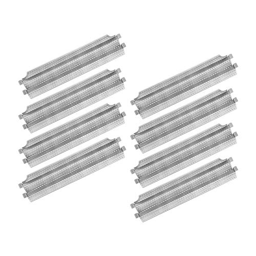 Damile Stainless Steel Grill Heat Plates Heat Shield Burner Cover, BBQ Gas Grill Replacement Parts for Viking VGBQ 30 in T Series, VGBQ 41 in T Series, VGBQ 53 in T Series, VGBQ30, VGBQ41, VGBQ53 Grill Heat Plates