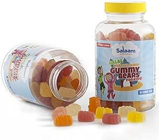 Salaam Nutritionals Children's Halal Gummy Multivitamins – 13 Essential Vitamins and Minerals with Antioxidants – Kosher, Vegetarian, Non-GMO, Gluten, Dairy, Nut Free (2 Pack, 180 Total Count)