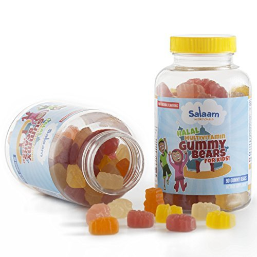 Salaam Nutritionals Halal Gummy Multivitamins for Kids, Complete Nutrition, Pectin Based *Best Tasting* (2 Pack) by Salaam Nutritionals
