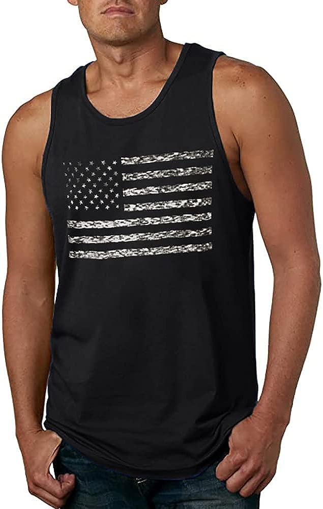 Cheap bargain LUKYCILD American Vintage Flag Men Tops USA Classic Patriot Ranking TOP9 Tank