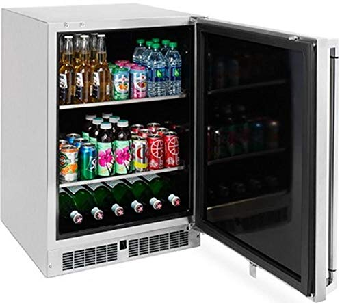 Best Review Of Lynx LM24BFR 24″ Professional Series Outdoor Beverage Center with 2 Removable Shelves, in Stainless Steel with Right Hinge