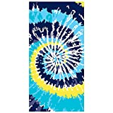 Ricdecor Beach Towel Indian Mandala Microfiber Large Round Beach...