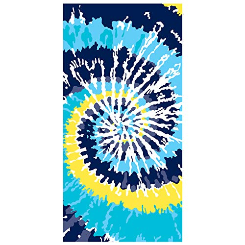 Ricdecor Indian Mandala Microfiber Large Round Beach Blanket with Tassels Ultra Soft Super Water Absorbent Multi-Purpose Towel 59 inch across (NO.3)
