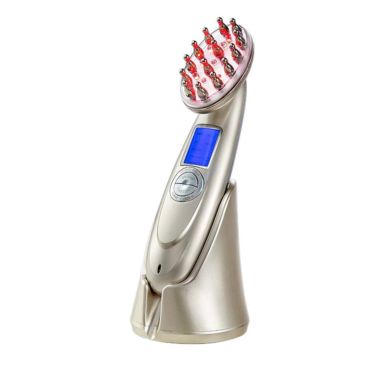 恥ずかしさ分析するシーフード高出力レーザーマッサージ櫛ソフトレーザーRF RF EMS電気楽器マッサージヘッド抗抜け毛防止器具