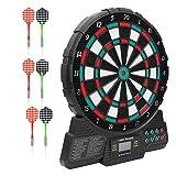ポータブル12インチ電子ダーツボードソフトヘッドプラスチックダーツ目標セットゲームアクセサリー