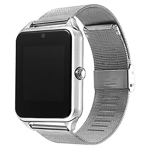 zyz Z60 Smart Watch Men's Y Bluetooth Bluetooth, HD, Recordatorio Inteligente, Modelo Multi-Sport Watch,Plata
