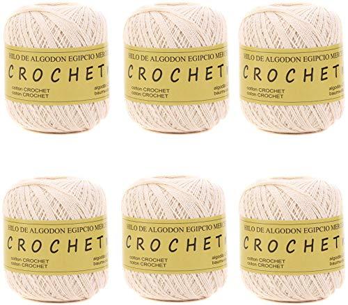 Hilo de Algodón para Tejer Crochet Ganchillo o Punto Torrijo PERLE XXL No 8 70g, Ovillo de algodón...