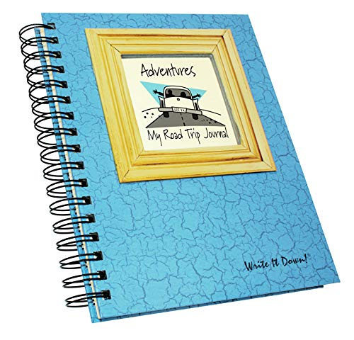"Journals Unlimited""Write it Down!"" Series Guided Journal, Adventure, My Road Trip Journal, with a Blue Hard Cover, Made of Recycled Materials, 7.5""x 9"" Photo #5"