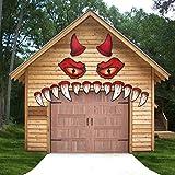FINGOOO Decoración de garaje de Halloween Decoración al aire libre, Ojos de monstruo Col...