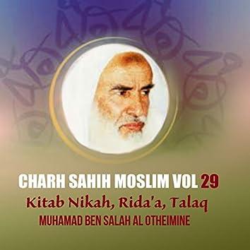 Charh Sahih Moslim Vol 29 (Kitab Nikah, Rida'a, Talaq)