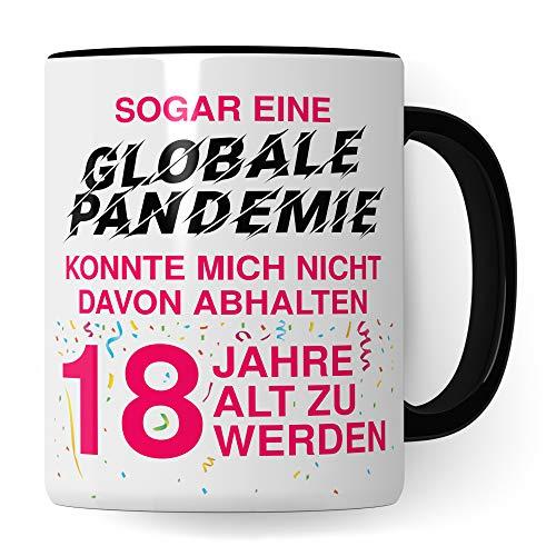 18. Geburtstag Mädchen Tasse, Geschenk 18 Geburtstag Tochter, Becher 18 Jahre alt Werden Spruch Becher Geschenkidee, Kaffeetasse 2003 Jahrgang Geburtstagsgeschenk Witz 2021