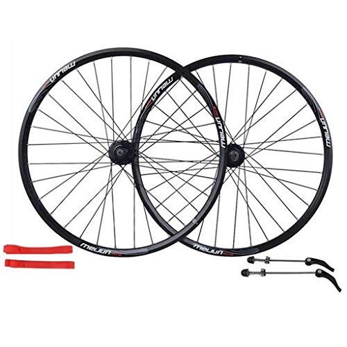 TYXTYX Rueda de Bicicleta MTB, llanta de aleación de Doble Pared de 26 Pulgadas, 32 Orificios, Juego de Ruedas de Freno de Disco de liberación rápida para Bicicleta de montaña, 7 8 9 10 velocidades