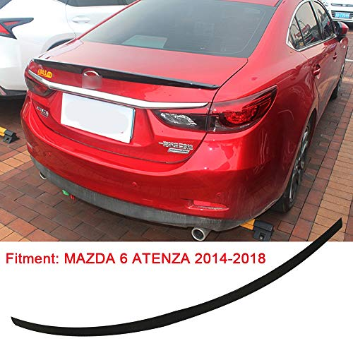 ACEOLT Prämie ABS Auto Spoiler Heckspoiler für Mazda 6 ATENZA 2014-2018, Punch Free Glued Adhesive, schwarz