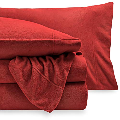 Bare Home Super Soft Fleece Sheet Set - Queen Size...