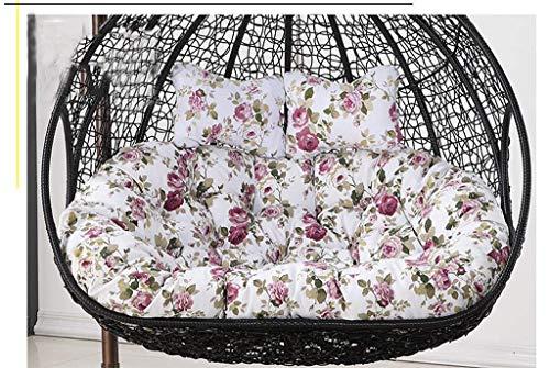 CHHD Coussins de siège de balançoire, Furniture Outdoor Patio Wicker Hanging Basket Swing Chair Tear Drop Egg Chair Cushion-Orange, Size: 110x150cm (Color: Red) Pas DE Chaise