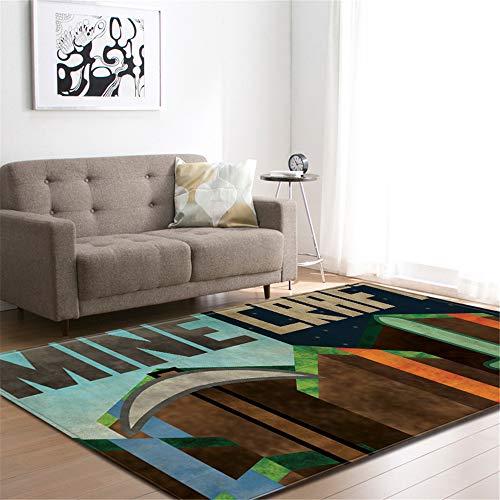 CHAOSE Leichte Weiche Polyester-Baumwolle Bedruckte Fläche Teppich Bodenmatte 3D Tier, Karikatur Für Wohnzimmer und Schlafzimmer (Minecraft, 80 x 50 in(203.2 x 147.3 cm))