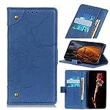 Œsieuse for Xiaomi MI Mix 3 5G Cas, Vintage Cuir PU Boucle de cuivre Aimant Flip Wallet Case avec...