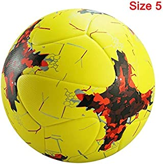 5 Size Football, Football Champions League Pu Ball KIVFVS (Color : R Red Yellow Size 5)