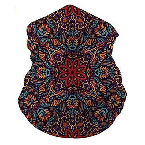 Lomelomme Bedruckte Multifunktionstuch Mundschutz Sommer Tuch Schal Waschbar Dünn Atmungsakt Schlauchschal für Damen und Herren