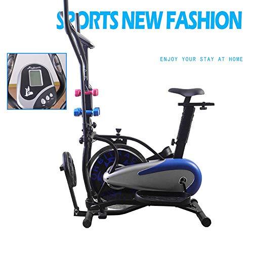 YANGSANJIN Bicicleta estática Multifuncional, Pantalla LCD Máquina elíptica de Fitness Control magnético silencioso Bicicleta dinámica Bicicleta Deportiva de Interior HomFitness Motion