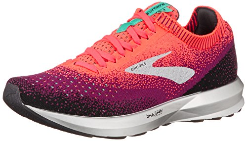 Brooks Womens Levitate 2 Running Shoe - Pink/Black/Aqua - B - 9.0