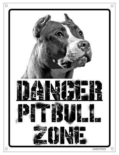 Danger PITBULL zone Targa cartello metallo attenti al cane metal sign (15X20)
