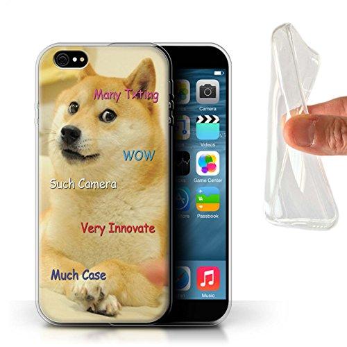 Stuff4® Gel TPU hoes/case voor Apple iPhone 6+/Plus 5,5 / zoekopdracht camera patroon/grappige Shibe Doge Meme collectie