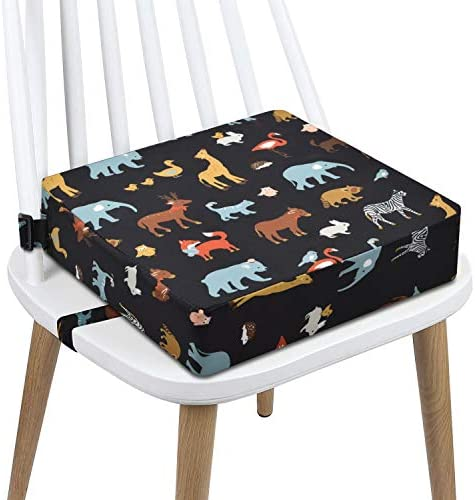Toddler Booster Seat Dining PU Washable 2 Straps Safety Buckle Kids Booster Seat for Dining product image