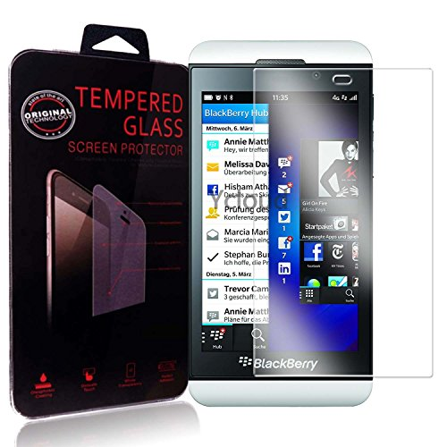 Ycloud Panzerglas Folie Schutzfolie Bildschirmschutzfolie für Blackberry Z10 screen protector mit Festigkeitgrad 9H, 0,26mm Ultra-Dünn, Abger&ete Kanten