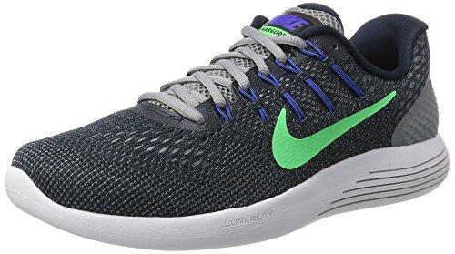 Nike Herren Lunarglide 8 Laufschuhe, Blau (Armory Navy/Electro Green-Stealth), 44 EU