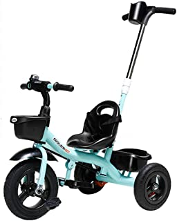 Kids' Bikes Children's Tricycle Outdoor Children's Tricycle 1-3 Years Old Boys And Girls Children's Trolley Fashion Children's Outdoor Toy Car Children's Pedal Bicycle (Color : Blue)