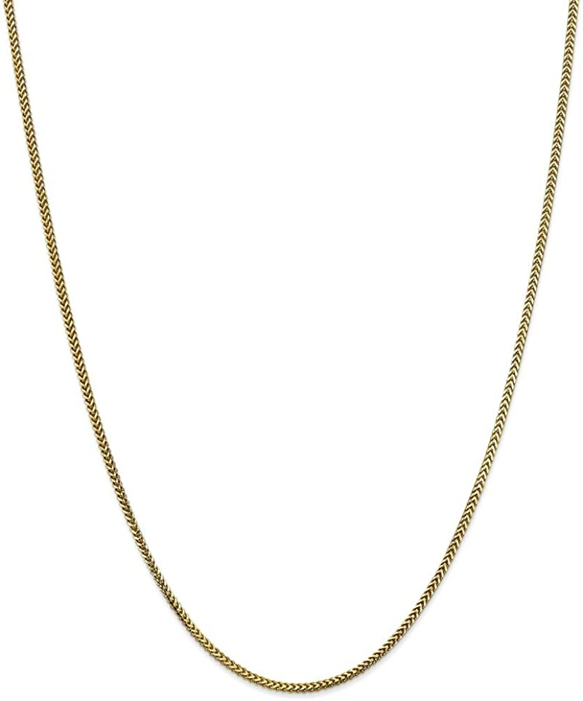 10k Yellow Gold 1.5mm Franco Chain Necklace 20 inches