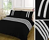 <span class='highlight'>SBL</span> <span class='highlight'>TRENDZ</span> FANCY LACE 100% COTTON DUVET COVER SETS WITH PILLOW CASES (Double, Black)