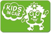 imoninn KIDS in car ステッカー 【マグネットタイプ】 No.65 ハーイさん (黄緑色)